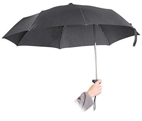 PEARL Umbrella: Ergonomischer Regenschirm mit versetztem Stock (Schirme)