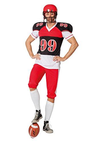 merican Football Kostüm Football-Spieler USA Quarterback Fasching Herrenkostüm Größe 60 ()