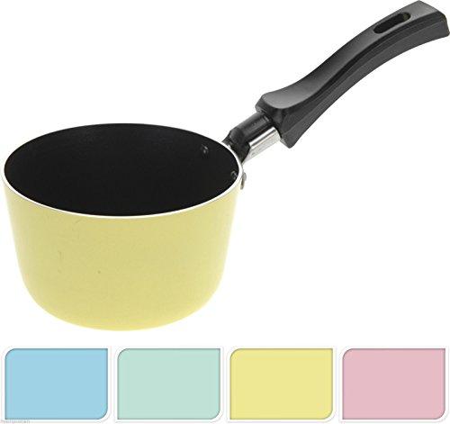 mini Topf für Schokolade Schokoladentopf Ø 11 cm beschichtet Schokoglasur Glasur (Gelb)
