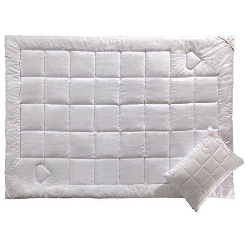 CARBON NO STRESS- Luxus Bettdecken- Hypoallergen- Kühles Schlafen- Luxuriöse Bettwäsche by White Boutique- 155/215 cm- 2 Stück