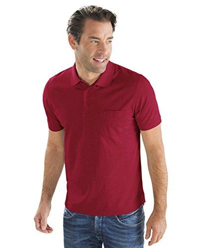 RAGMAN Herren RAGMAN Kurzarm Softknit Poloshirt Beere