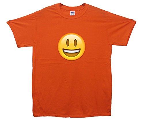 Smiley Face Emoji T-Shirt Orange
