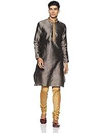 Manyavar Men's Regular Fit Kurta & Churidar Set (SDES245)