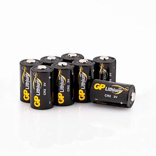 GP Lithium Batterien CR2 3V Schwarz-Gold (CR-2, CR15H270, 5046LC) 3 Volt für z.B. Digitalkameras, Camcorder, Rauchmelder, Taschenlampen, Laserpointer, etc. (8 Stück)