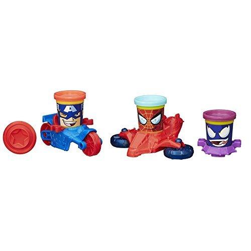 Play-Doh - Vehículos, diseño Marvel (Hasbro B0606EU4)