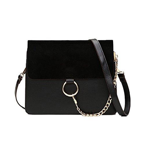 Damen Sommer Neue Hülle Tasche Trend Kette Weibliche Tasche Matt Schulter Kleine Tasche Mini-Tasche Handtasche,Black