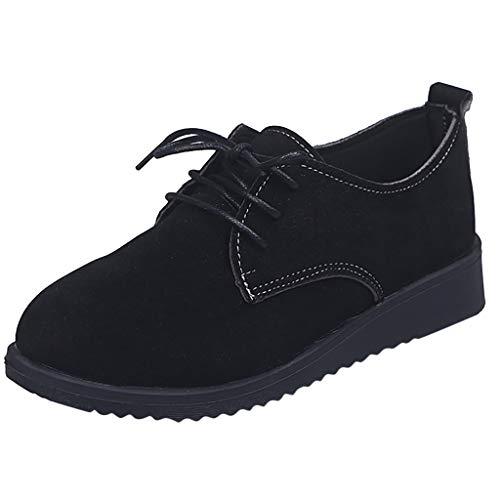Precioul Damen Walkingschuhe Atmungsaktive Weiche Damenschuhe Fitness Schuhe Krankenschwester Schuhe British College Wind System mit Schuhen Retro matt Brock flach (New Balance-scrubs)