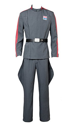 Star Wars Imperial 181st Tie Fighter Wing Pilot Officer Uniform Cosplay Kostüm Grau