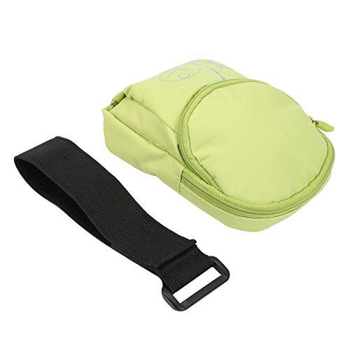 Wkae Case Cover Universal-Double-Layer-Zipper Multifunktions-Freizeit-Art Sport-Arm-Beutel für iPhone 6 &6S / Samsung Galaxy S7 &S6 &S6 Rand, Größe: 15,0 x 9,5 x 2,0 cm ( Color : Pink ) Green