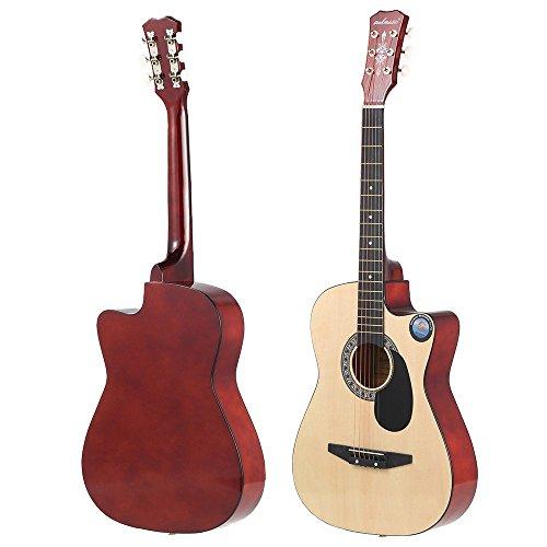 ammoon Akustische Gitarre für Anfänger 96,5cm saitigen Natural Color