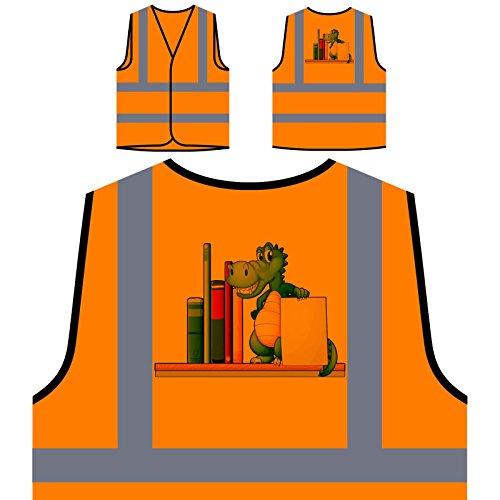funny-crocodile-loves-reading-books-personalized-hi-visibility-orange-safety-jacket-vest-waistcoat-g