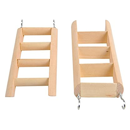 PanDaDa Small Animals Habitat Toy Funny Climbing Ladder Hamster Ladder Stand Wooden Climbing Toy Solid Playing Accessories 3