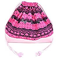 Drawstring Gokigen lunch in the race and patterns (medium size) with gusset lunch bag ribbon Pretty cute (deep pink) x Ox pink made in Japan N3460500 (japan import) preisvergleich bei kinderzimmerdekopreise.eu