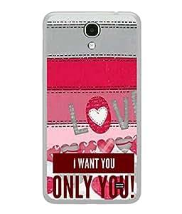 Fuson Designer Back Case Cover for Samsung Galaxy Mega 2 SM-G750H (Only You Message Pink Girl Lady Wife Bride)
