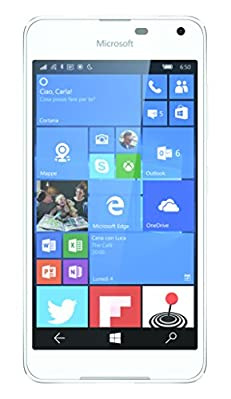 "MICROSOFT LUMIA 650 5"" QUAD CORE 16GB 4G LTE WINDOWS 10 ITALIA WHITE LIGHT SILVER"