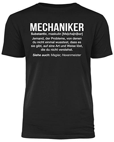 Mechaniker Definition - lustiges Herren T-Shirt (XL)