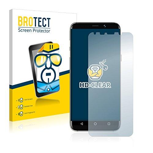 BROTECT Schutzfolie für Bluboo S8 Plus [2er Pack] - klarer Bildschirmschutz