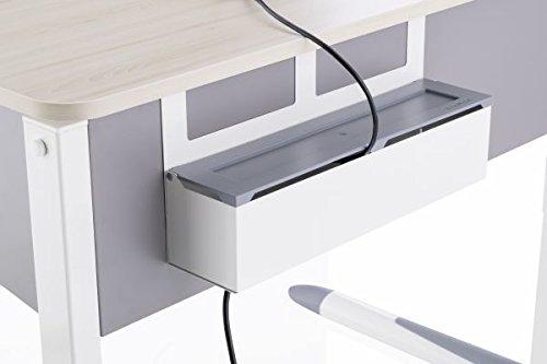 Kettler Zubehör für Schreibtische: Kabelkanal, Plastik, Weiss, 46 x 16 x 21 cm