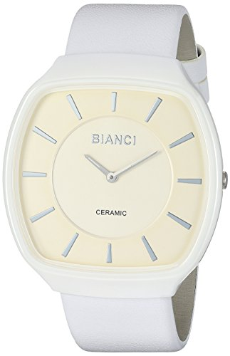 ROBERTO BIANCI WATCHES Women's 'Vitalia' Quartz Ceramic and Silicone Casual Watch, Color:White (Model: RB28700)