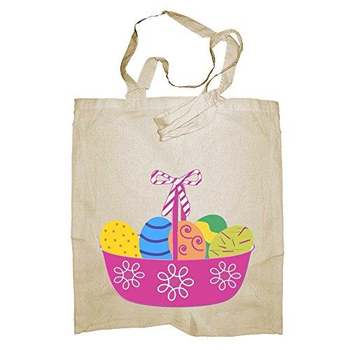 in seconda colore limmag giallo Shopper La My di al formato borsa si borsa medi modello Buona scelto cotone Pasqua da riferisce Custom Style® 8manici di 50cm; 38x42cm modello foto Pasqua naturale 8nw0q8At1x