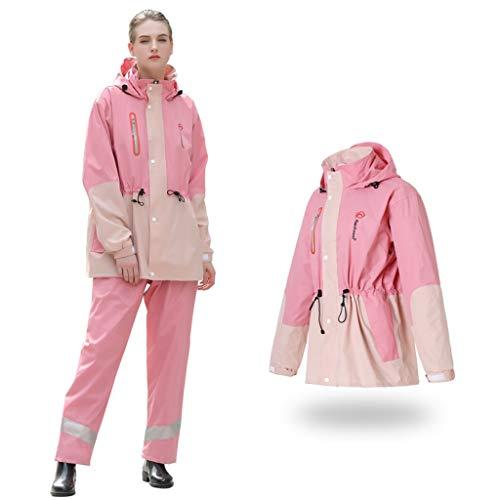 GRYY Erwachsenen Regenmantel Wasserdicht, Starke Regenmantel Regen Hosen Split Anzug Frau für Batterie Auto Motorrad Outdoor Camping Zelt Anti Storm (größe : XXL)