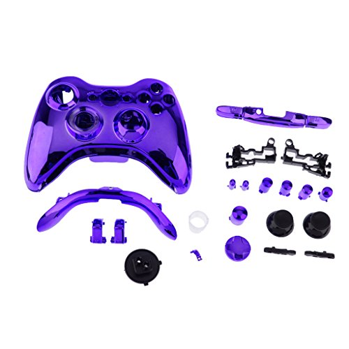 Generic Ersatzfall Shell-Taste-Kit Für Xbox 360 Wireless-Game-Controller - Lila