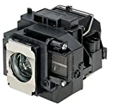 Supermait EP57 Lámpara de Repuesto para proyector con Carcasa, Compatible con Epson Elplp57, Adecuada para EB-440W / EB-450W / EB-450Wi / EB-455Wi / EB-460 / EB-460i / EB-465i / EB-450We / EB-460e