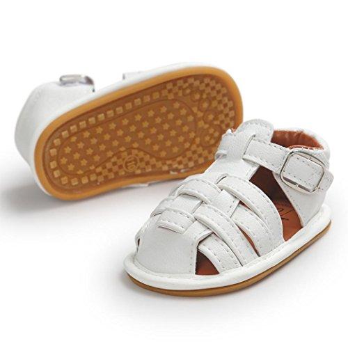 Chaussures de bébé,Transer ® Bébé 0-18 mois fille garçon souple en cuir sandales Chaussures premiers marcheurs Blanc