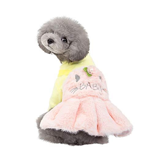 Kostüm Rock Pudel Für Hunde - Hundekleidung Hundebekleidung Neue Nette Haustier Hund Prinzessin Hundekleider, Hawkimin Pailletten Pullover Kleidung Winter Mantel Welpen Kostüme Outfit Prinzessin-Kleid für Hunde Pet Rock Supplies