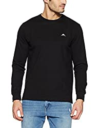 Monte Carlo Mens Solid Regular Fit T-Shirt (217039920-1_Black_42)