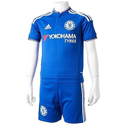 adidas Jungen Bekleidungsset FC Chelsea Heimausrüstung, Blau/Weiß/Rot, 116, S11683