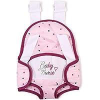 Smoby portabebés Baby Nurse Mochila para portar muñecos bebé, Color Rosa (220351)