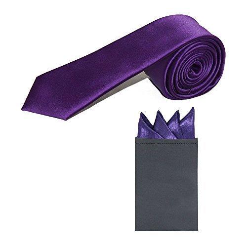 fin-cravate-satin-pre-plie-pochette-mouchoir-ensemble-cadburys-violet-one-size