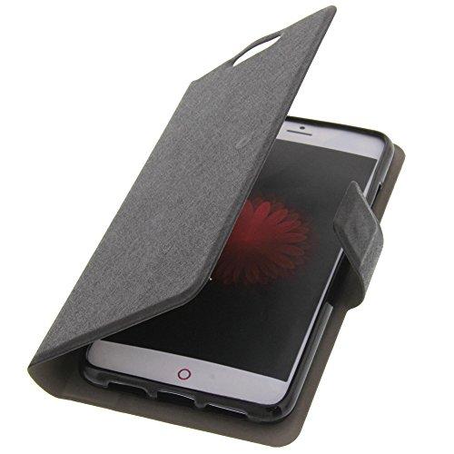 foto-kontor Tasche für ZTE Nubia Z11 Mini Book Style Ultra-dünn Schutz Hülle Buch Schwarz