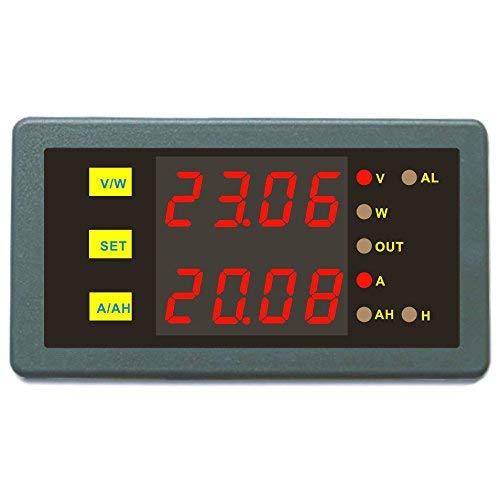 DC 0-200V 0-200A Controller misuratore programmabile Volt Amp Power Ah Auto Spegnimento Combo Tester Tensione Amp Potenza Ah O