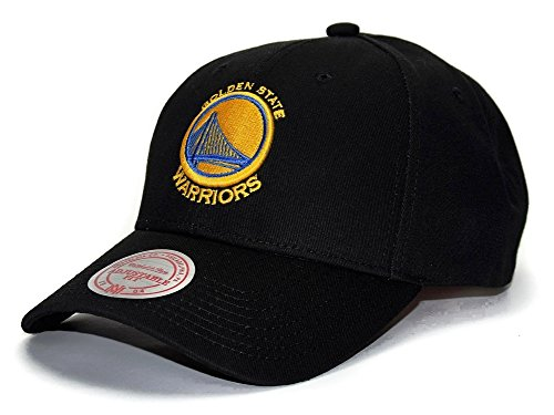 Mitchell & Ness Golden State Warriors Low Pro Adjustable NBA Cap Schwarz, Schwarz, Einheitsgröße Low Pro Cap