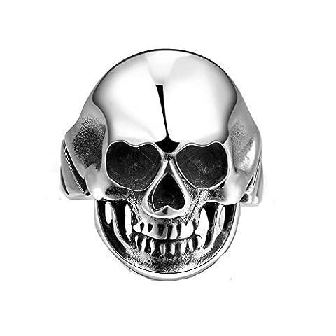 GYJUN Unique Star Celebrity Men Skull Ring Magic Movie Props Black Vintage Punk Style Women Men's Titanium steel Finger RIngs , 11