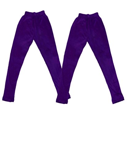 Indistar Super Soft Pure Cottton Purple Leggings for Little Girls(Pack of 2)_3-5 Years  available at amazon for Rs.249