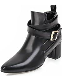 Easemax Damen Modisch Spitze Zehe Cross Band Elastisch Ankle Boots Mit Absatz Silber 33 EU bTAPQI6VL