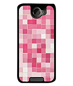 HTC One X, HTC One X+, HTC One X Plus, HTC One XT Back Cover Pink Colour Checked Sqaures Design From FUSON
