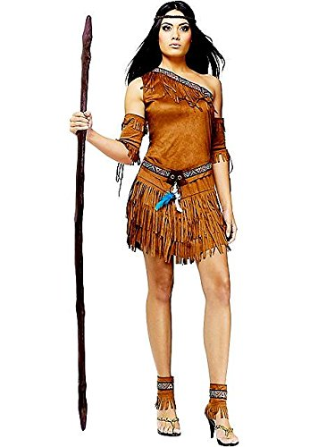 Sexy Pow Wow Indian Fancy dress costume Small/Medium (Skirt Fringe Beaded)
