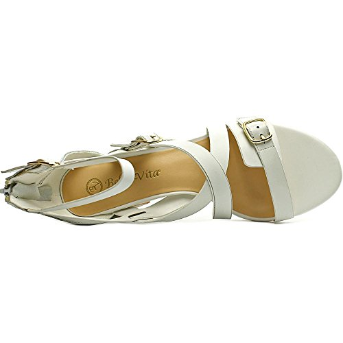 Bella Vita Fira Femmes Large Cuir Sandales white