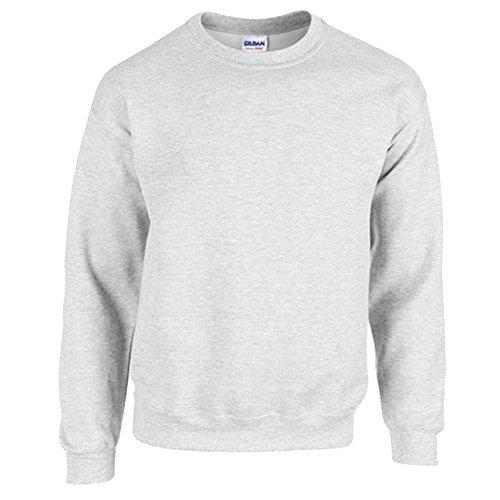 Knopf-crewneck Pullover (Gildan Heavy Blend Erwachsenen Crewneck Sweatshirt 18000 S, Ash)