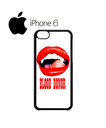 Blood Donor Sexy Red Lips Vampire Swag Mobile Phone Case Back Cover Hülle Weiß Schwarz for iPhone 6 White Schwarz