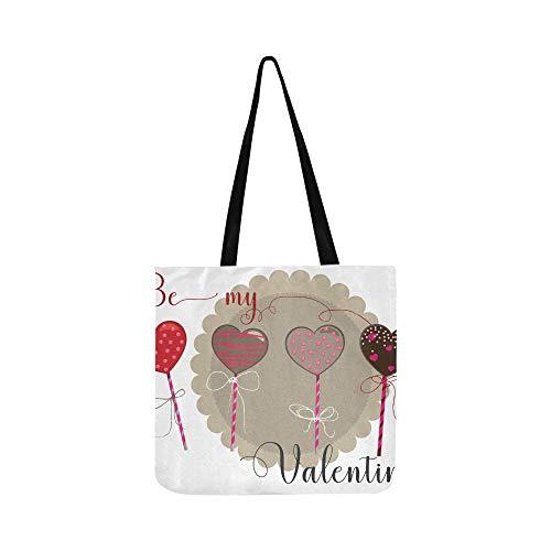 Schöne lollipop rosa leinwand tote handtasche umhängetasche crossbody taschen geldbörsen für männer und frauen einkaufen tote