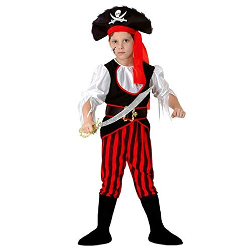 Lovelegis Größe M - 4-6 Jahre (110-120 cm) - Piratenkostüm - Corsair - Child - Disguise Carnival Halloween Cosplay Accessories