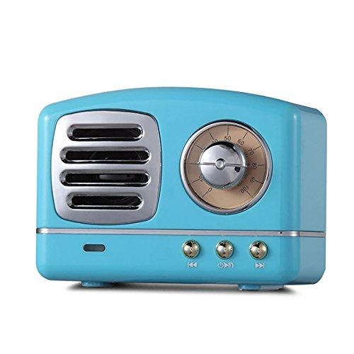Mini Haut-Parleur sans Fil, HM11 Rétro Bluetooth Haut-Parleur Stéréo avec Sortie 3W, Lecture Super Longue Durée, Chargement USB - Fonctionne avec IPhone, IPad | Haut-Parleur Cannon portatif Portable
