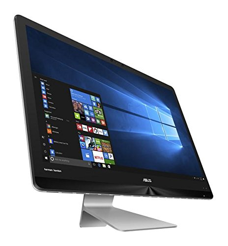 Asus ZN270IEGT-RA078T 68,5 cm (27 Zoll) All-in-One Desktop PC (Intel Core i7-7700T, 1TB HDD/512GB SSD, 16GB RAM, NVIDIA GeForce 940MX, Win 10 Home) grau (All In One Computer Intel I7)