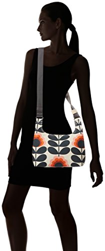 Orla Kiely Summer Flower Stem Mini Sling Bag, Sacs portés épaule Yellow (Sunset)