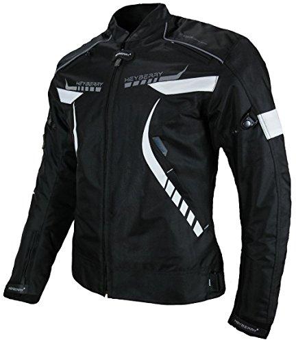 *Heyberry Damen Motorradjacke Textil Schwarz Weiß Gr. M / 38*